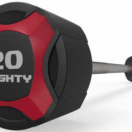 Mighty urethane straight barbell red.png