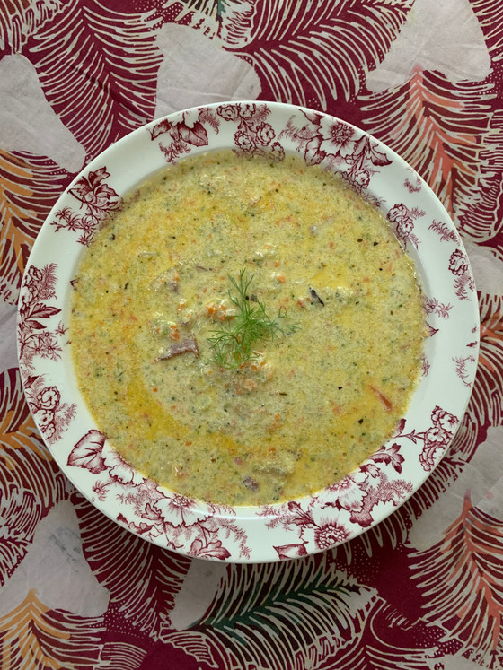 Keto-ish Broccoli & Cheese Soup