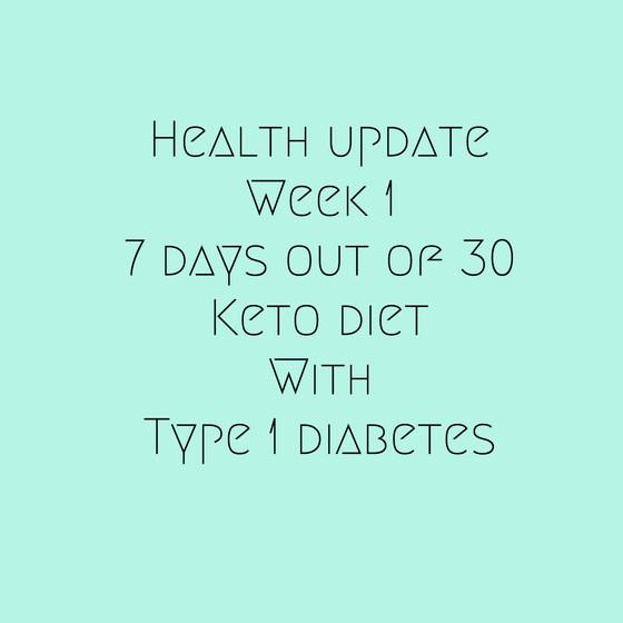 Health Update Week 1