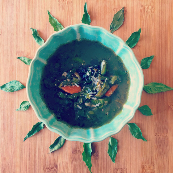 Vegetable Soup {for my sore throat}