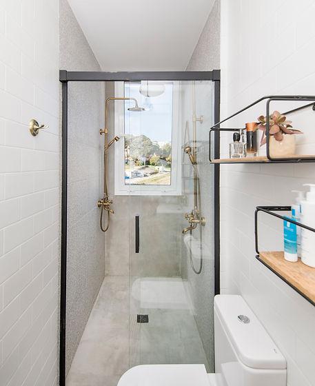 Reforma baño duchas dobles