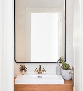 Reforma baño, espejo lavabo