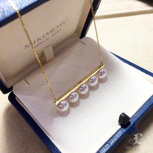 AAAA 7.5-8 mm Akoya Pearl Balance Series Pendant 18k Gold