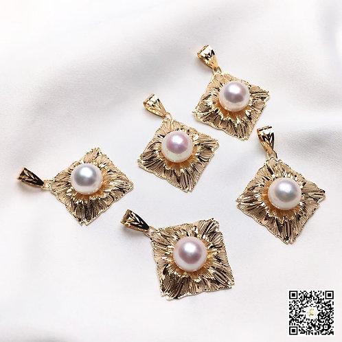 AAA 8.5-9mm Baby Akoya Pearl Pendant 18k Gold