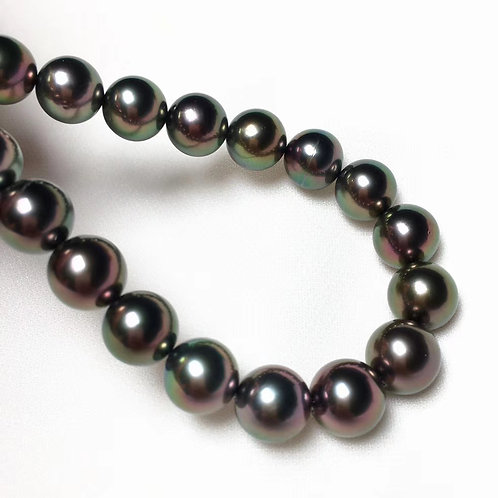 45cm AAA 8.3-10.6 mm Tahitian Pearl Classic Necklace
