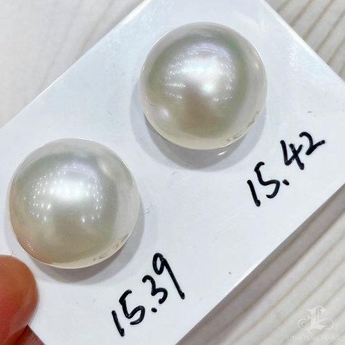 PAIR | AAAA 15-15.4 mm South Sea Loose Pearl