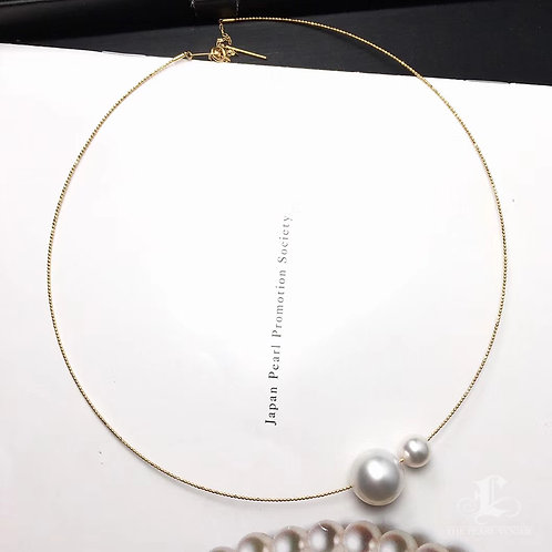 AAA 13-14mm White South Sea Pearl Pendant 18k Gold