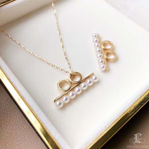 AAAA 3.5-4 Akoya Pearl Fashion Necklace, 18k Gold