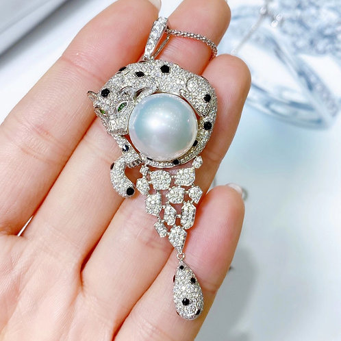 2.38ct Diamond AAAA 14.3 mm South Sea Pearl Pendant, 18k Gold