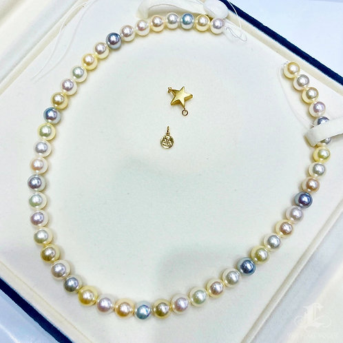 43cm, AAAA 8-8.9 mm Akoya Pearl Classic Necklace w/ Japanese Certificate