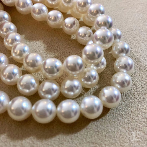 45cm, AAAA 8.5-9mm Natural Color Akoya Pearl Classic Necklace