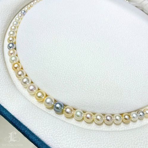 40 cm, AAAA 2-7 mm Akoya Pearl Classic Necklace w/ Japanese Certificate