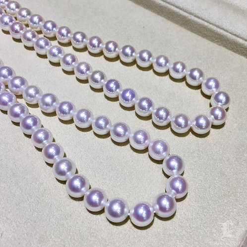 45cm, Hanadama 花珠 8.5-9 mm Akoya Pearl Classic Necklace w/ Japanese Certificate