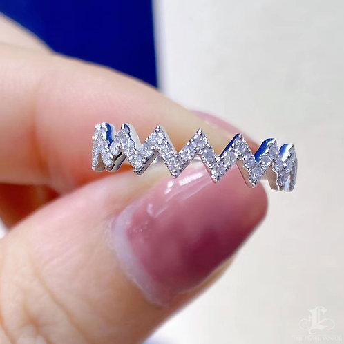 0.25 ct FG/SI Micro-Pave Natural Diamond Band Ring 18k Gold