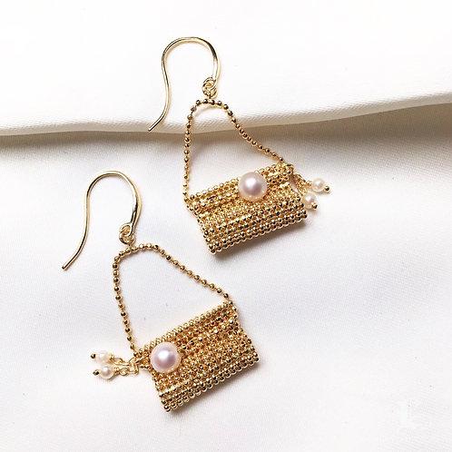 AAA 4-5 mm Baby Akoya Pearl Earrings 18k Gold