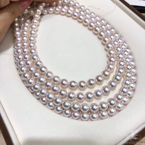 45cm, Hanadama|花珠 8.5-9 mm Akoya Pearl Classic Necklace w/ Japan Certificate