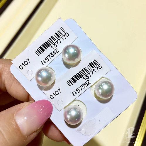 PAIR|Aurora Hanadama|天女 8.5mm, 9.0mm, 9.5mm Akoya Loose Pearl w/ Japan Certific