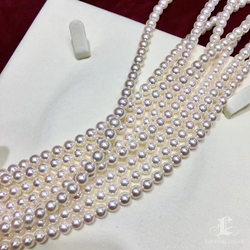 43cm, Rin Color|彩凜珠 5-5.5 mm Akoya Pearl Necklace w/ Japanese Certificate