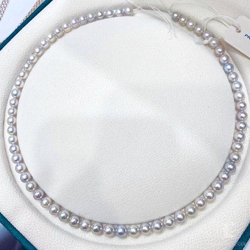 45 cm, AAAA 6-6.5mm Akoya Pearl Classic Necklace w/ Japan Certificate