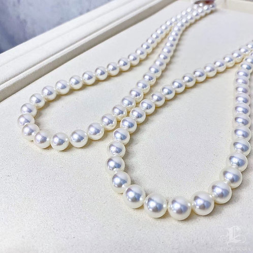 45cm, AAAA 8-8.5mm  Akoya Pearl Classic Necklace w/ Japan Certfte