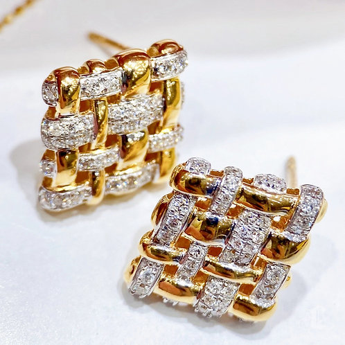 0.82 ct Natural Diamond Classic Earrings 18k Gold