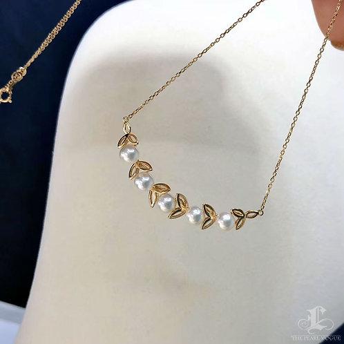 AAAA 5-5.5 mm Akoya Pearl Pendant 18k Gold