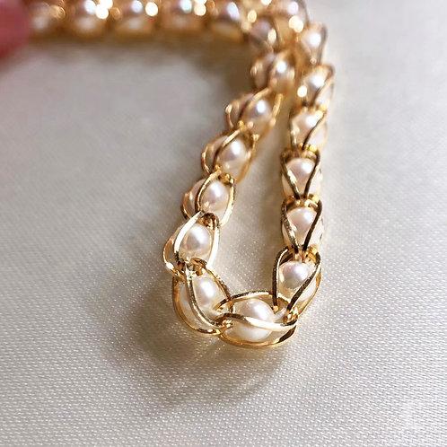 40cm AAAA 4-5 mm Akoya Pearl Necklace 18k Gold