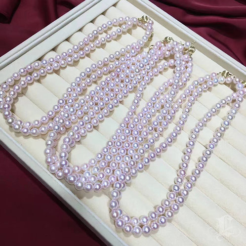 45cm, AAAA 7.5-8mm Akoya Pearl Necklace w/ Japanese Certificate