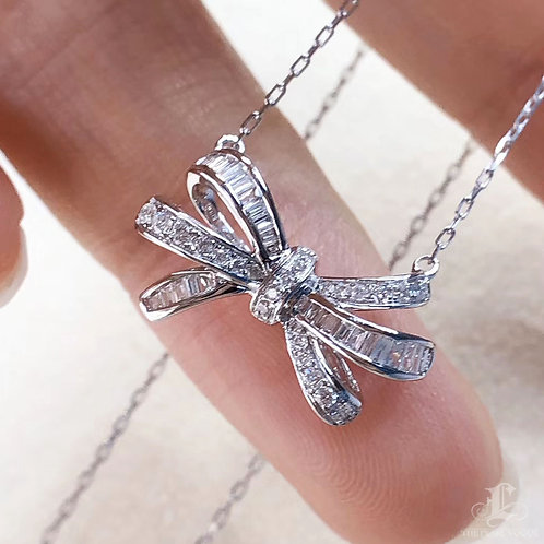 0.25 ct FG/SI Micro-Pave Natural Diamond Pendant Necklace 18k Gold