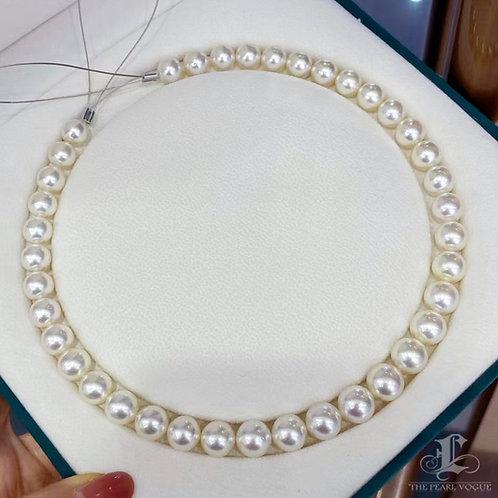 45cm 9.4-11.7 mm Pinctada Maxima|白蝶 Pearl Classic Necklace w/ Japanese Certif