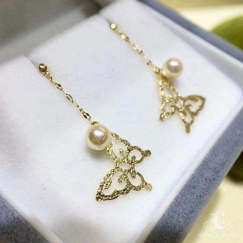 AAA 4 mm Baby Akoya Pearl Fashion Earrings 18k Gold