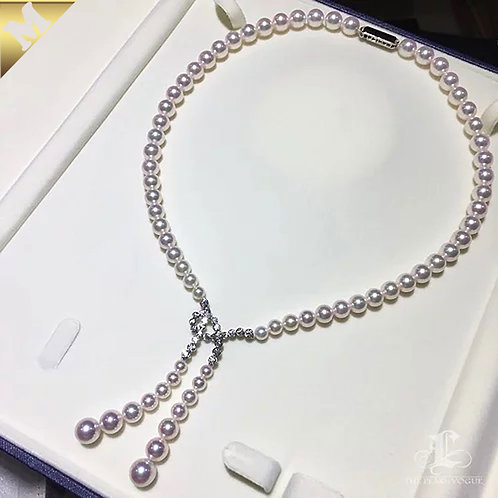 45cm or 65cm, PMS| 5-9mm Akoya Pearl Style Necklace w/ Japanese Certificate