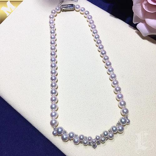 41cm PMS|AAAA 4-8mm Akoya Pearl Luxury Wedding Necklace w/ Japanese Certificate