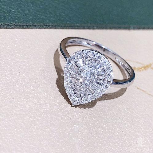 0.50 ct FG/SI Natural Diamond Micro-Pave Ring 18K Gold