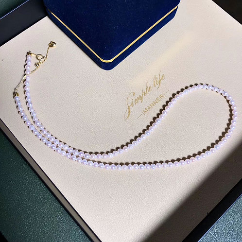 43cm, Rin Color|彩凜珠 3.5-4mm Akoya Pearl Classic Necklaces w/ Japan Certificate