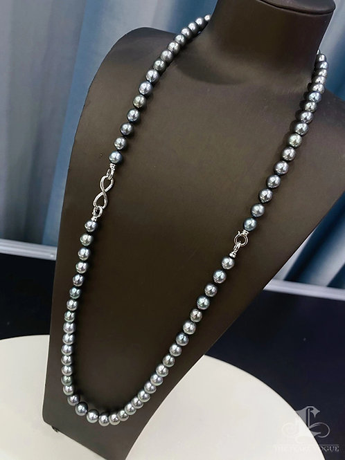 43+40 cm AAA 8-10 mm Multicolor Tahitian Pearl Special Necklace