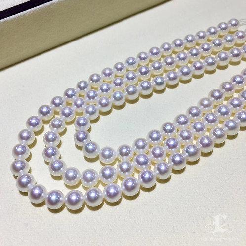 45cm, AAAA 7.5-8mm Akoya Pearl Classic Necklace