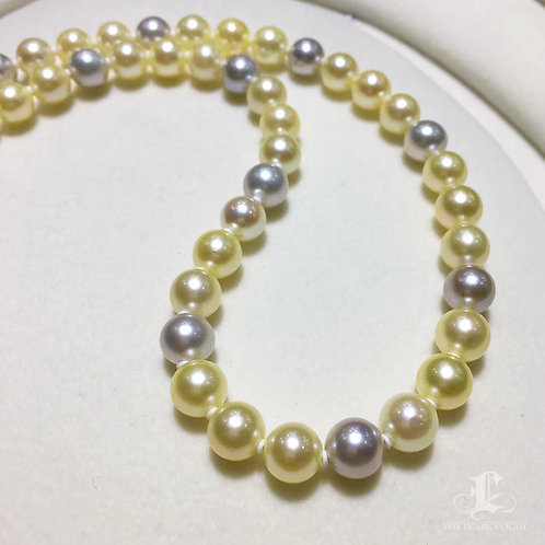 45cm, AAAA 6.5-7.5mm Akoya Pearl Classic Necklace w/ Japanese Certificate