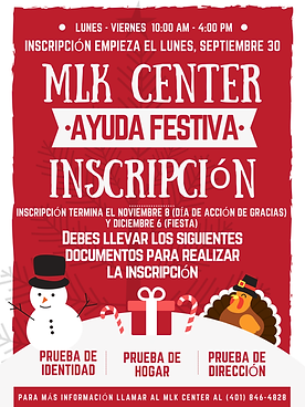 Spanish 2019 Holiday Help Program Flyer-