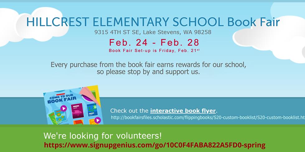 Spring 2020 Book Fair Setup and Volunteer Help Needed