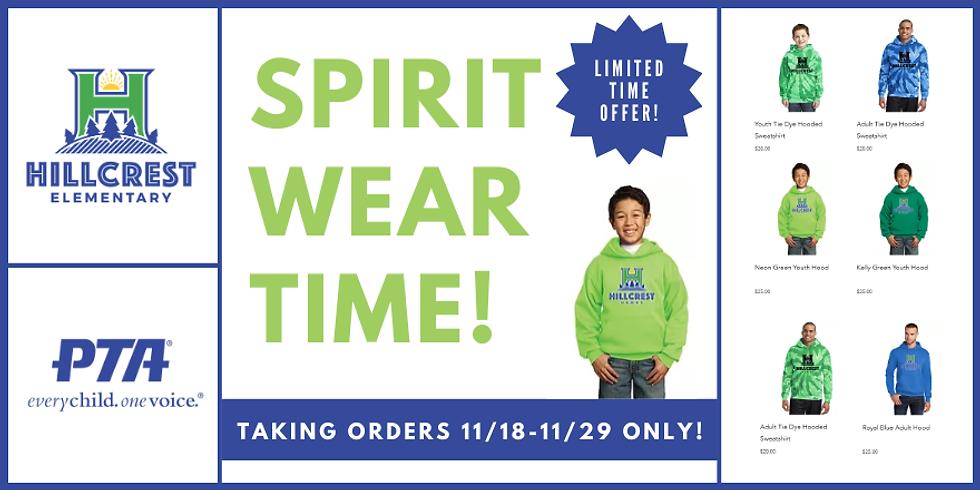 Time to Order Spirit Wear!