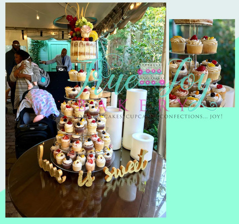 SEMINAKED WITH CUPCAKE TOWER AND FRUIT