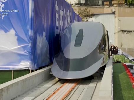 China desafía al mundo con su tren bala, 2 veces más rápido que el AVE y levitando.