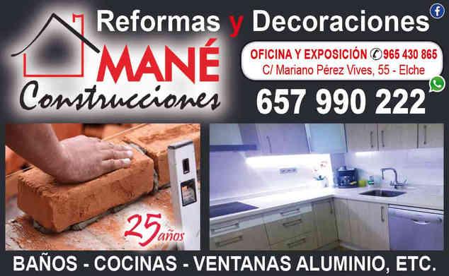 Reformas Mané | Revista Maná Maná | Agencia de Publicidad en Elche, Alicante y Vega Baja | Guía de empresas digital y anuncios