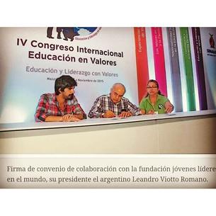 Jóvenes Líderes firma convenio con Secretaría de Educación de Sinaloa
