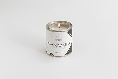 Dalliance BLACK VANILLA Candle