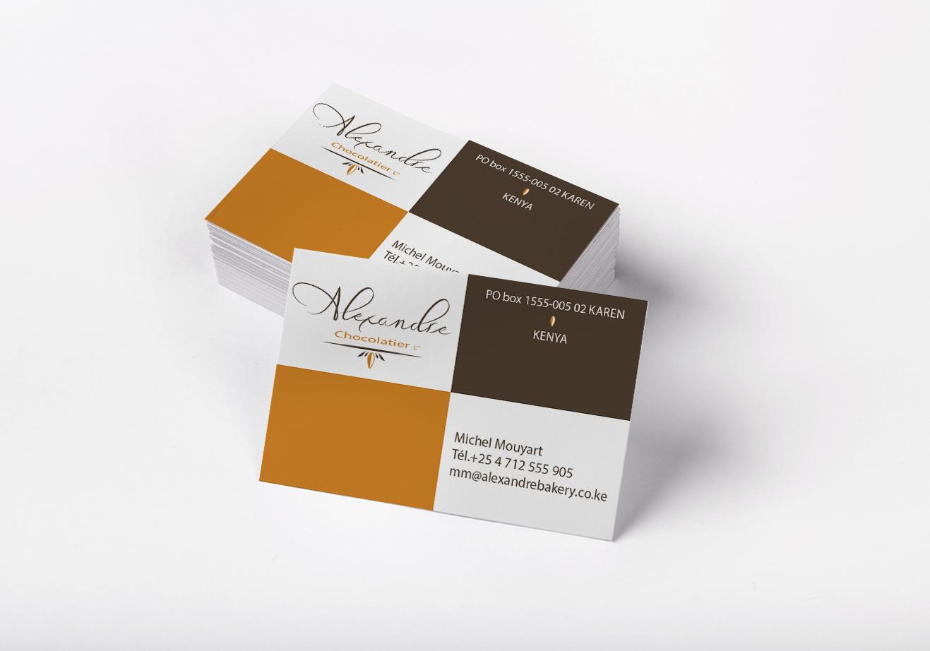 Carte de visite chocolatier