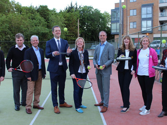 Local Public Representatives visit Dunboyne Tennis Club