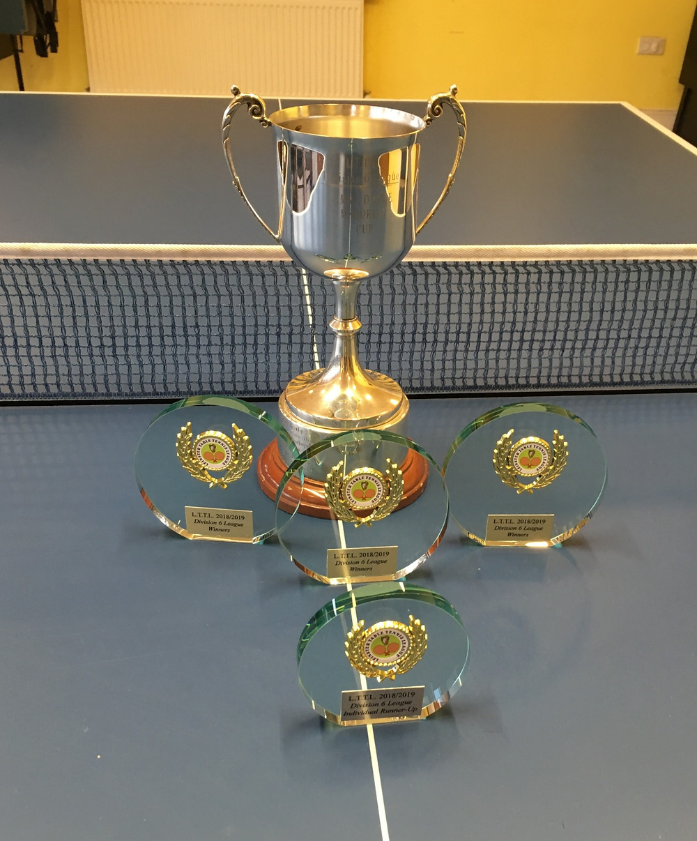 Dunboyne Table Tennis Trophies