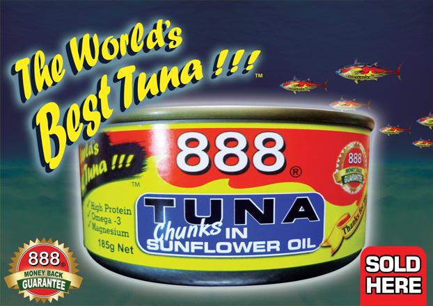 888 185g World's Best Tuna Poster